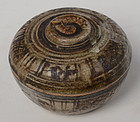 14th - 16th C., Sukhothai Stoneware Covered Bowl in The Fruite Shape