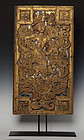 17th C., Shan, Burmese Wooden Panel with Angel Design