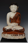 17th C., Shan, Burmese Alabaster Seated Disciple