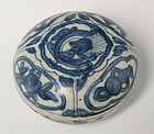 16th C., Ming, Chinese Porcelain Blue and White Covered Box