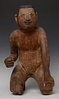 Early 19th C., Early Mandalay, Burmese Wooden Sitting Boy