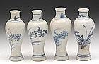 Ca Mau Miniature B & W Vases