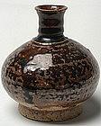 Sukhothai Brown Glaze Bottle Vase