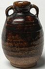 Sukhothai Brown glaze Ring-Handled Jarlet