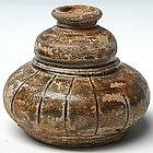 Khmer Honey Gourd Brown-glazed w/ Plain Decoration