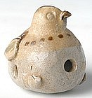 Tang Dynasty, A Chinese Pottery Figure of Bird