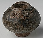 A Khmer Brown Glazed Lime-Pos, in Owl Form