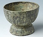 Bayon Style, Khmer Bronze Footed Tray
