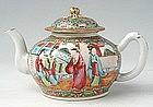 Chinese Export Rose Medallion Circular Teapot