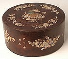 Vietnamese Inlaid Mother of Pearl Box with Flowers