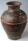 Sukhothai period, Sankampaeng Brown Glazed Jar