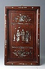 Vietnamese Inlaid Mother of Pearl Picture of Figures