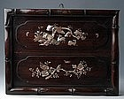 Vietnamese Inlaid Mother of Pearl Picture of Deers