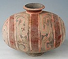 Han Dynasty Small Pottery Cocoon Jar