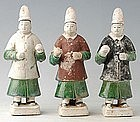 Ming Dynasty, Chinese Painted Pottery Court Man