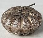 A Thai Pumpkin-shaped Silver Betel Nut Box