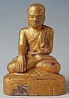 Burmese Mandalay Painted Wooden Disciple