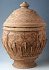Five Dynasties, Rare &Large Chinese Incised Pottery Jar