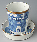 A Set of Chinese Export Blue and White Cup and Saucer