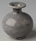 Ming Dynasty, Chinese Miniature Vase with Blue Glaze