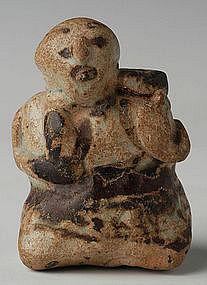 14th C,Rare Sukhothai Stoneware Hunchback Water Dropper