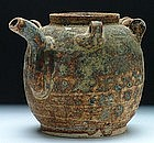 Ming brown-glazed ceramic teapot.