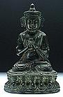 A Qing Bronze Buddha