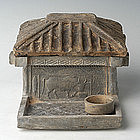 Han Dynasty, Rare Chinese Grey Pottery House