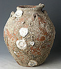 14th Century, Very Rare&Large Sukhothai Jar with Shell