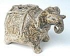 Large & Rare Khmer Pottery Elephant Lime Pot
