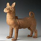 Rare Big Han Dynasty Pottery Dog w/ TL Test