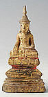 19th Century, Thai Wooden Sitting Buddha