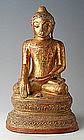 19th Century, Rare Burmese Paper Mache Buddha