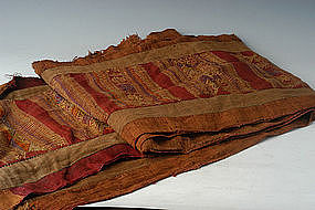 19th Century, Burmese Textile for Weighted Sleeping Net