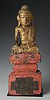 19th Century, Rare Tai Yai Burmese Wooden Buddha