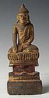 Late 18th Century, Rare Tai Yai Burmese Wooden Buddha