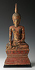 18th Century, Laos Wooden Sitting Buddha