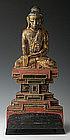 Early 19th Century, Rare Tai Yai Burmese Wooden Buddha