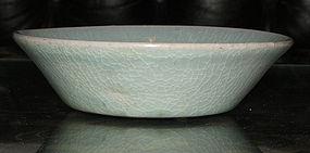 A Korean celadon shallow dish. Koryo period.