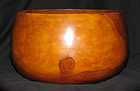 An Hawaian 'Kou' wood bowl. 19th century.