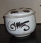 A Chinese Song Dynasty pottery cizhou bowl and cover.