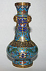 A fine Chinese cloisonne small vase. Kienlong 18th c.