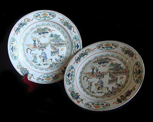 Famille Verte Plates - Kangxi