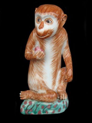 Porcelain Monkey Statue - Qianlong Period