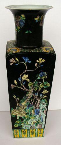 Famille Noire Square Vase