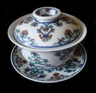 Doucai Bowl, Stand and Lid