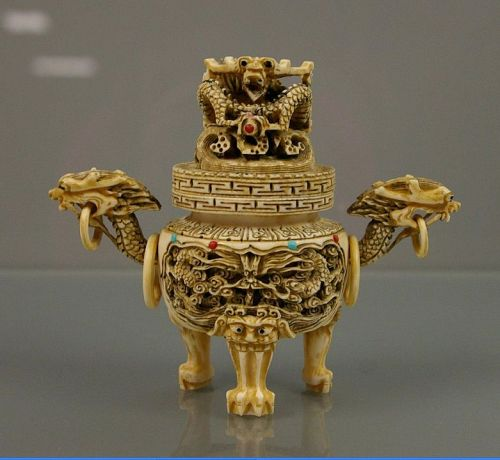 Carved Ivory Censer
