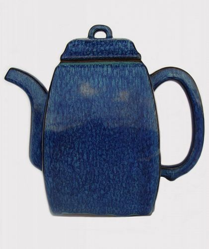 Yixing Teapot with Robins Egg Glaze