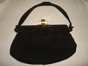 ART DECO GRACELINE ORIGINAL HANDBAG W/  LUCITE CATCH