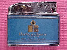 BELVEDERE ADVERTISING CIGARETTE LIGHTER 1960's